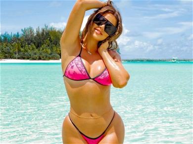 Khloe Kardashian Flaunts Perfect Body, Dripping Wet In Micro-String Bikini