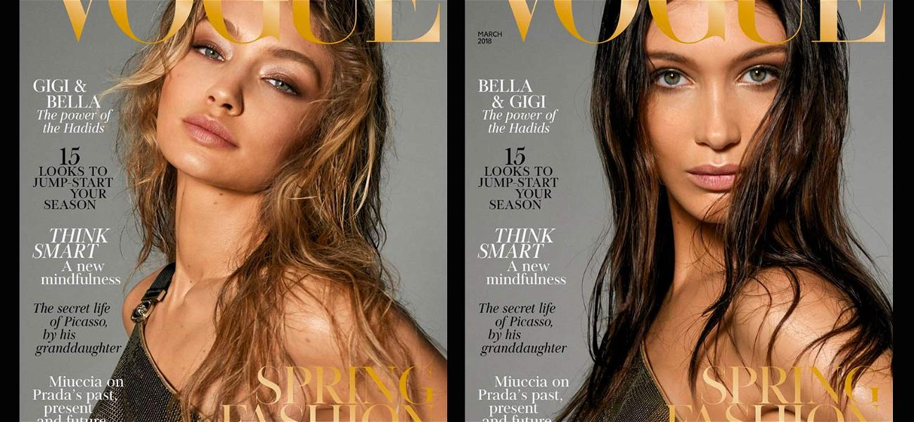 Gigi and Bella Hadid Embrace Their Double Covers With Naked Cuddle