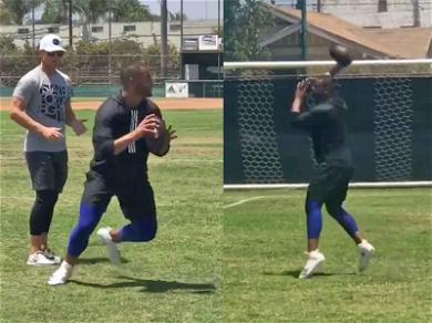 Dak Prescott Shows Off Fancy Footwork at Long Beach Poly During High-School Workout