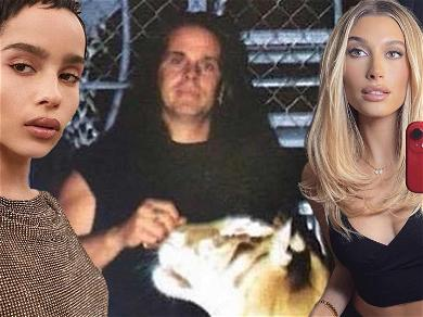 Hailey Bieber & Zoë Kravitz Freak Out After Pic Of Britney Spears And 'Tiger King' Star Doc Antle Goes Viral