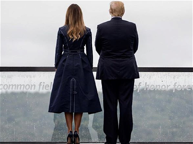 Everyone Thinks Melania Trump's 9/11 Coat Showed Plane Flying Into Tower