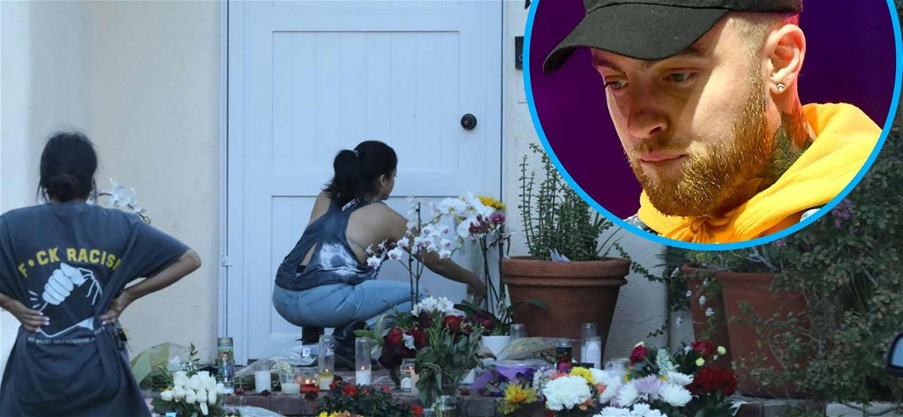 Fans Leave Flowers, Gifts Outside Mac Miller's Home After Tragic Death