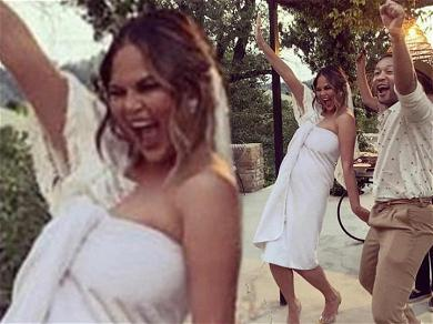Chrissy Teigen Wears Towel as Wedding Dress During Vow Renewal to John Legend