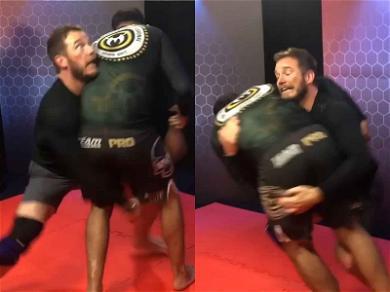 Chris Pratt Scares Us With Intense Jiu-Jitsu Faces While Wrestling UFC Legend In Brazil