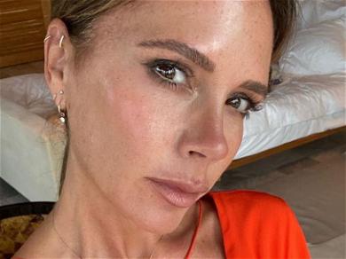 Victoria Beckham Flaunts Cleavage In Minuscule Spandex Top