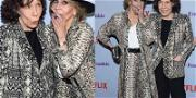 Lily Tomlin and Jane Fonda Twinning for 'Grace and Frankie' Premiere