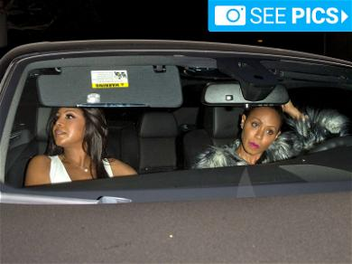 Toni Braxton Chows Down With Jada Pinkett Smith for 50th Birthday Party