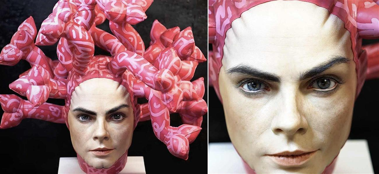 Don't Stare Directly into Cara Delevingne's Eyes … in New Sculpture