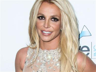 Britney Spears Straddles Boyfriend With Mouth Open