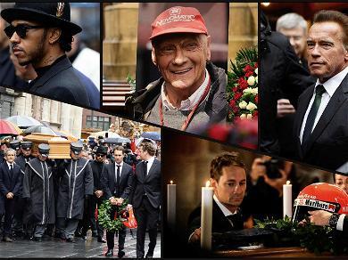 Arnold Schwarzenegger Delivers Touching Eulogy at F1 Legend Niki Lauda Funeral