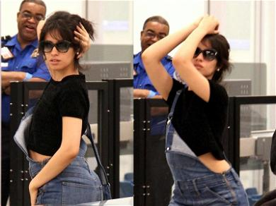 Camila Cabello Shows of Her Dance Moves in an Airport Security Line