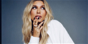 Hailey Bieber CRUSHES In Braless Skin-Tight Leather Mini-Dress