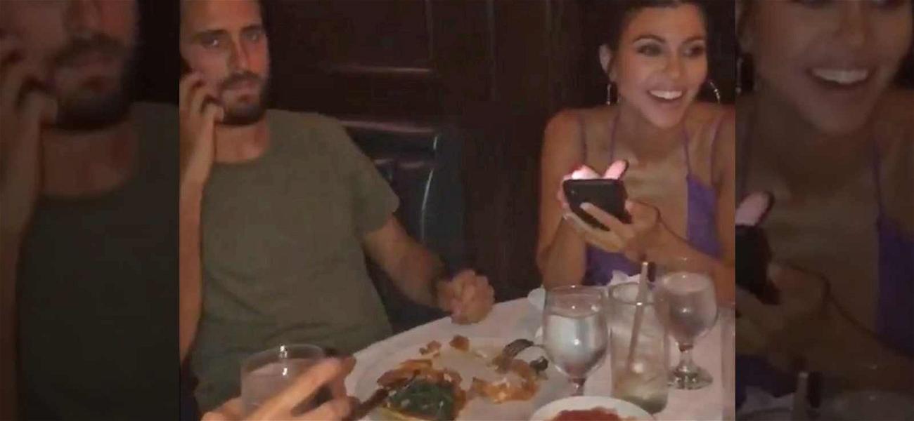 Scott Disick and Kourtney Kardashian Reunite at Kylie's 21st Bday Party
