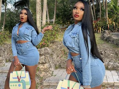 Megan Thee Stallion Flaunts Her Curves In Miami Ahead Of Big Game Performance