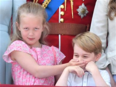 Prince George Adorably Silenced by Older Cousin at Buckingham Palace