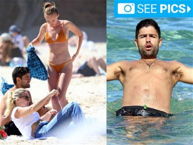 Adrian Grenier in Oz with Bikini Babe Girlfriend
