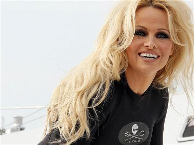 Pamela Anderson Forgets Her Clothes For High Heels Kick-A-Round