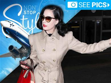 Dita Von Teese is the Reigning Queen of Airport Chic