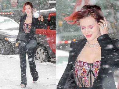 Bella Thorne Treks Through Blizzard Like an Angel
