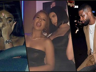 Kylie Jenner, Jordyn Woods & Tristan Thompson Reunite at Birthday Party