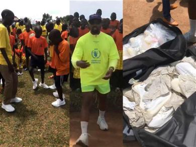 Kim Kardashian & Kanye West Deliver Yeezys to Ugandan Orphan Village