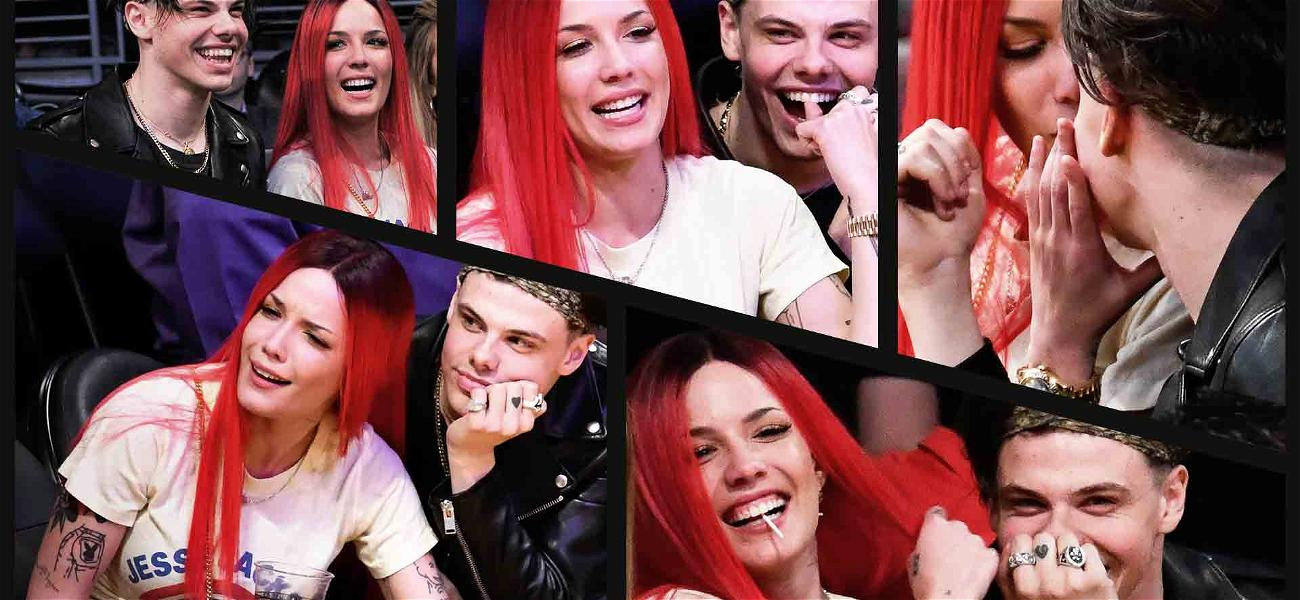 Halsey and Yungblud Are Adorably Cute During PDA Session at Lakers Game