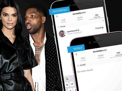 Kendall Jenner DUMPS Tristan Thompson on Instagram, Still Following Jordyn Woods