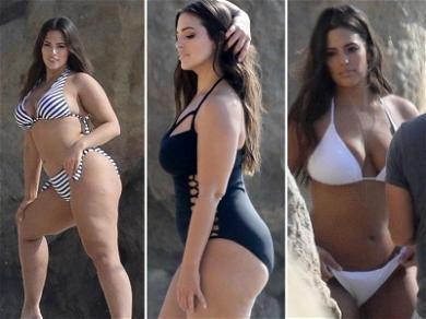 Ashley Graham Strips Down to a Bikini for Chilly Beach Shoot