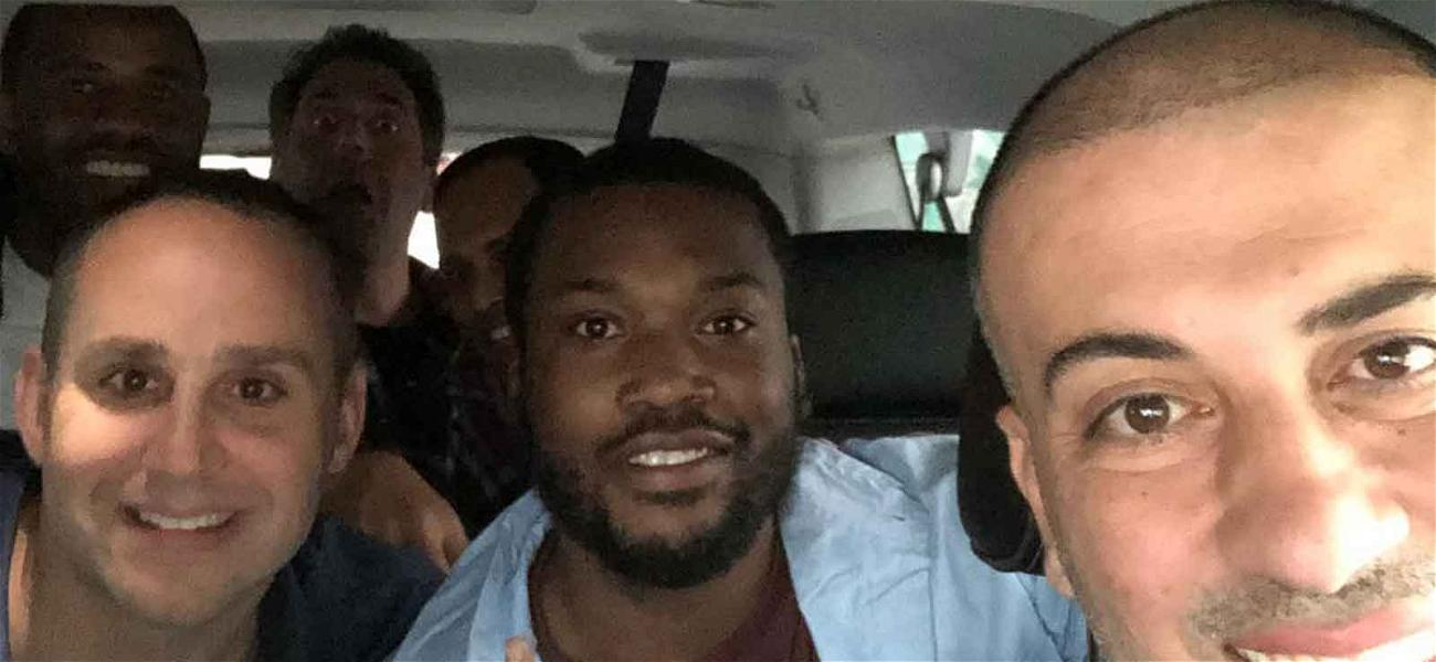 Meek Mill Goes Straight from Prison to the NBA Playoffs!