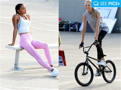 Victoria's Secret Angel Jasmine Tookes Stretches Out in Venice Beach