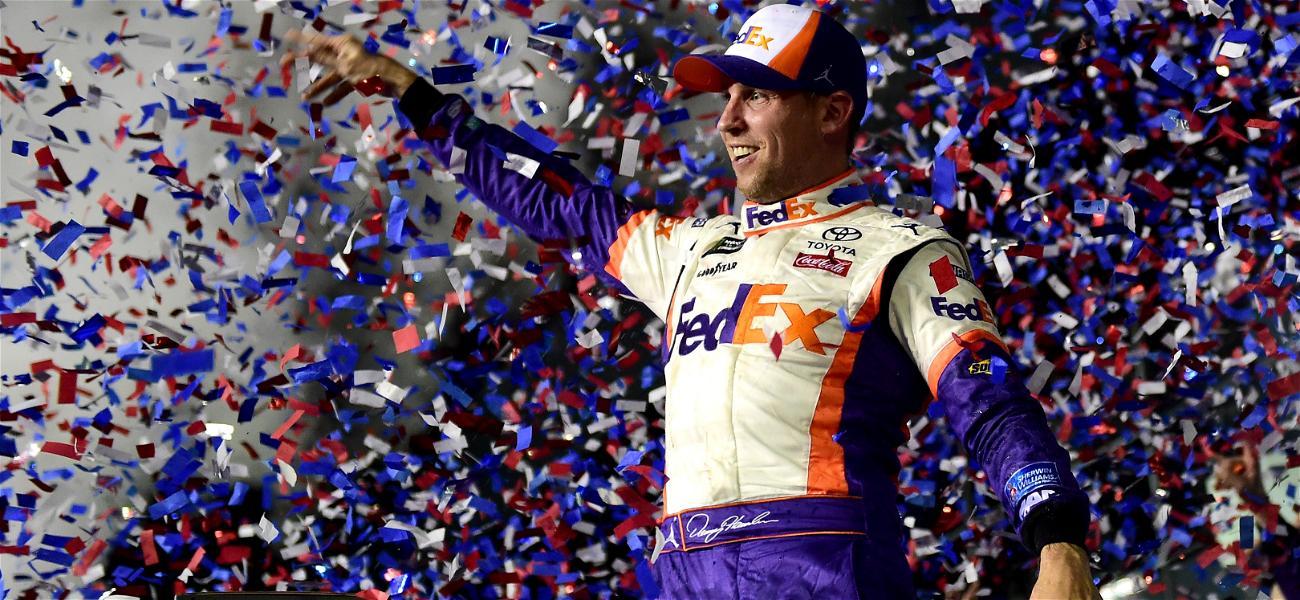 Daytona 500 Winner Denny Hamlin Scrutinized For Celebrating Amid Ryan Newman's Crash