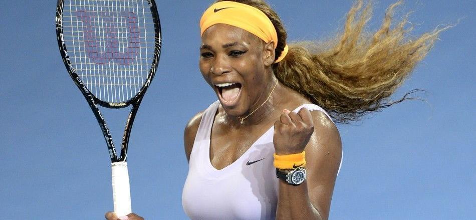 Serena Williams' Skimpy Tennis Dress Flies Up In Power Backyard Workout