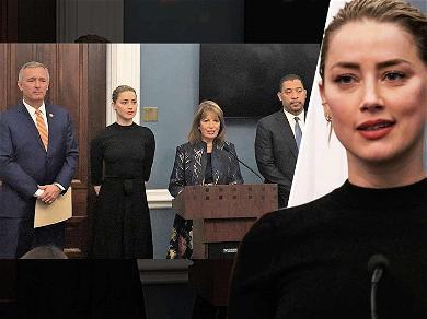 Amber Heard Speaks at U.S. Capitol to Support Revenge Porn Bill