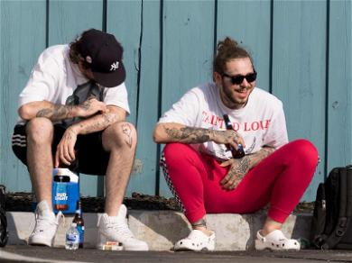 Post Malone Celebrates Safe Emergency Landing With Happy Hour! ?