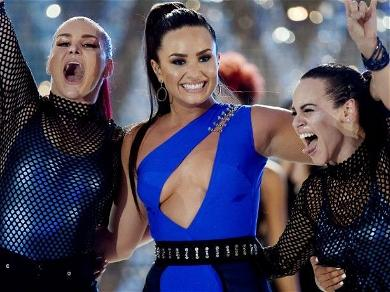 Demi Lovato Stuns In Mesh Sports Bra For Power Workout