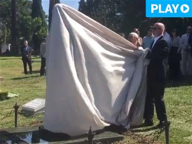 Anton Yelchin Memorial Statue Unveiled at Gravesite, Jennifer Lawrence Attends