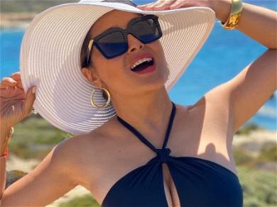 Salma Hayek's Drenched Bikini Body Clocks 1.6 Million Views
