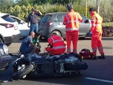 George Clooney Hit by Car in Italy, Injured in Scooter Accident