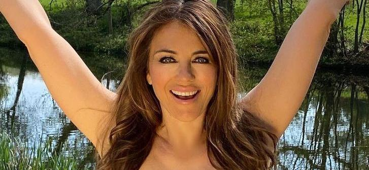 Elizabeth Hurley Pulls Down Stolen Bikini Bottoms
