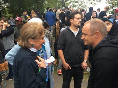 Mac Miller Fans Gather at Blue Slide Park
