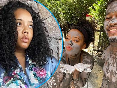 Angela Simmons Bids You Good Morning In Silky Floral Robe From Paradise Vacation With New Beau