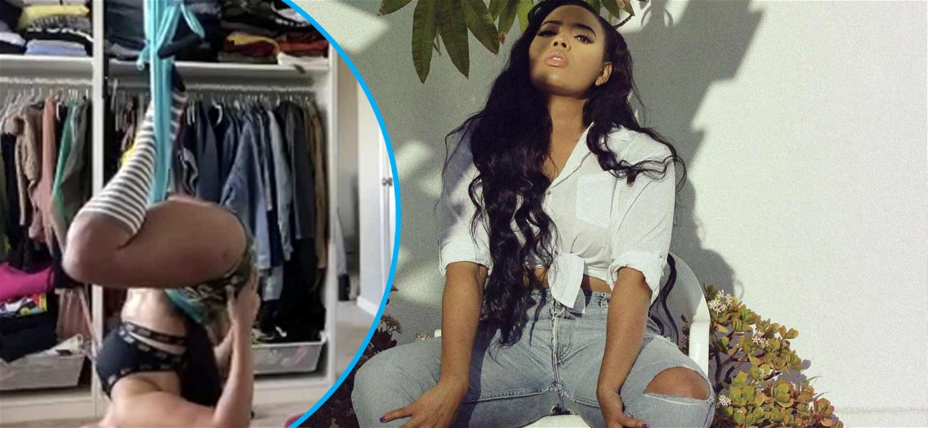 Angela Simmons Makes Things Elongate During Sultry Spinal Stretching Exercise