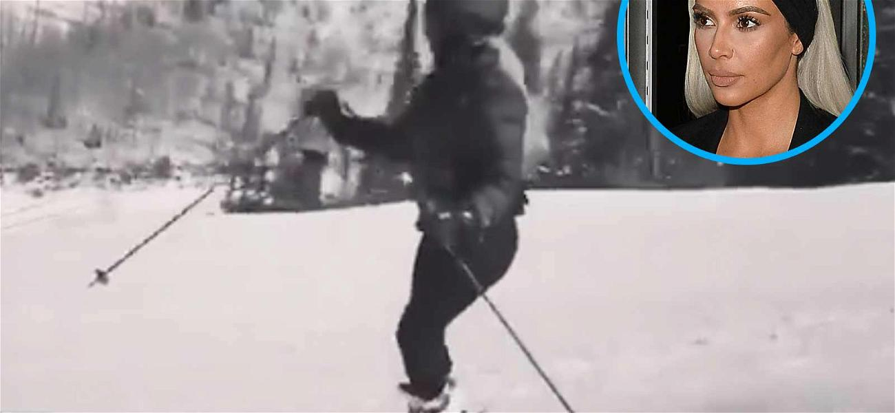 Kim Kardashian Shows Off Some Serious Skiing Skills