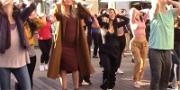 Khloé Kardashian Jumps into Flash Mob While Pregnant