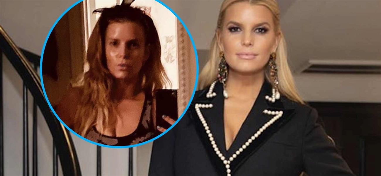 Jessica Simpson CRUSHES With 100-Pound Weight Loss In Dripping Wet Workout Photos