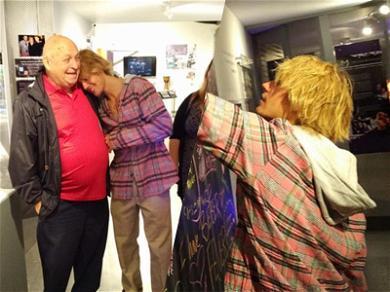 Justin Bieber Takes Justin Bieber's Grandparents to Visit the Justin Bieber Exhibit