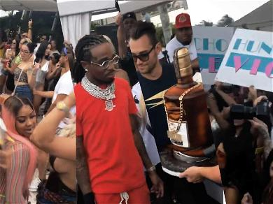 Quavo Premieres New Cognac with Migos' Support During Birthday Bash
