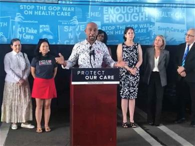 Montel Williams Breaks Down at Health Care Rally Over Daughter's Battle with Cancer