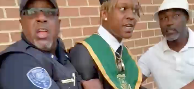 Atlanta Rapper BUSTED After Making It Rain $10,000 At His Own High School Graduation!