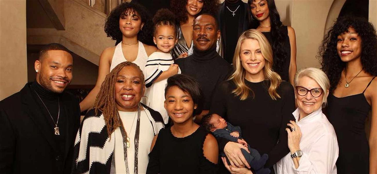 Eddie Murphy Shows Off All His Children During Huge Family Photo